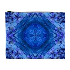 Boho Bohemian Hippie Tie Dye Cobalt Cosmetic Bag (xl) by CrypticFragmentsDesign