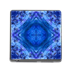 Boho Bohemian Hippie Tie Dye Cobalt Memory Card Reader (square) by CrypticFragmentsDesign