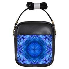 Boho Bohemian Hippie Tie Dye Cobalt Girls Sling Bags by CrypticFragmentsDesign