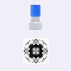 Boho Bohemian Hippie Tie Dye Cobalt Rubber Round Stamps (small)