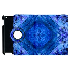 Boho Bohemian Hippie Tie Dye Cobalt Apple iPad 3/4 Flip 360 Case by CrypticFragmentsDesign