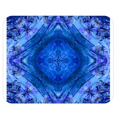 Boho Bohemian Hippie Tie Dye Cobalt Double Sided Flano Blanket (medium)  by CrypticFragmentsDesign