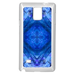 Boho Bohemian Hippie Tie Dye Cobalt Samsung Galaxy Note 4 Case (white) by CrypticFragmentsDesign