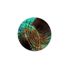 Metallic Abstract Copper Patina  Golf Ball Marker (4 Pack) by CrypticFragmentsDesign