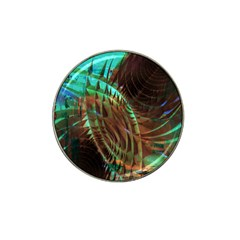 Metallic Abstract Copper Patina  Hat Clip Ball Marker by CrypticFragmentsDesign