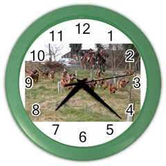 Bloodhounds Working Color Wall Clocks by TailWags
