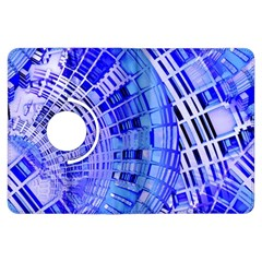 Semi Circles Abstract Geometric Modern Art Blue  Kindle Fire Hdx Flip 360 Case by CrypticFragmentsDesign