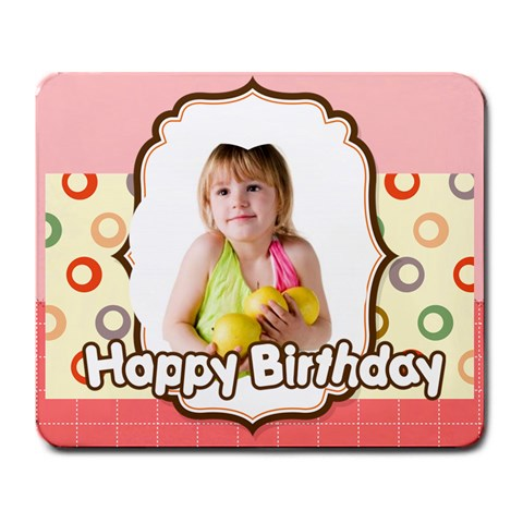 Kids Birthday By Happy Birthday   Large Mousepad   1bvxcvek6xpe   Www Artscow Com Front
