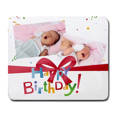 Kids Birthday By Happy Birthday   Large Mousepad   8n4mz34zqr1m   Www Artscow Com Front