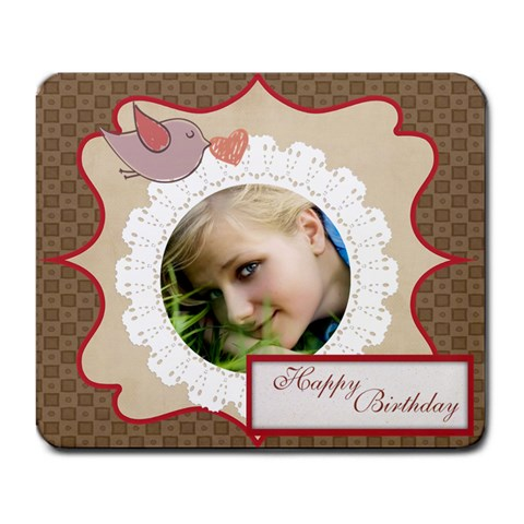 Kids Birthday By Happy Birthday   Large Mousepad   05hxsbmh6sxa   Www Artscow Com Front