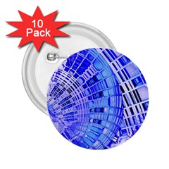 Semi Circles Abstract Geometric Modern Art Blue  2 25  Buttons (10 Pack)  by CrypticFragmentsDesign