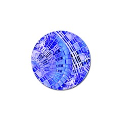 Semi Circles Abstract Geometric Modern Art Blue  Golf Ball Marker by CrypticFragmentsDesign