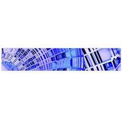 Semi Circles Abstract Geometric Modern Art Blue  Flano Scarf (Large)  by CrypticFragmentsDesign