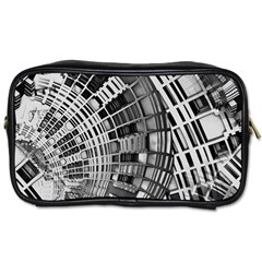 Semi Circles Abstract Geometric Modern Art Toiletries Bags 2 Side by CrypticFragmentsDesign