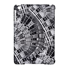 Semi Circles Abstract Geometric Modern Art Apple Ipad Mini Hardshell Case (compatible With Smart Cover) by CrypticFragmentsDesign