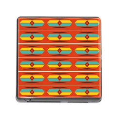 Shapes In Retro Colors Pattern                        memory Card Reader (square) by LalyLauraFLM