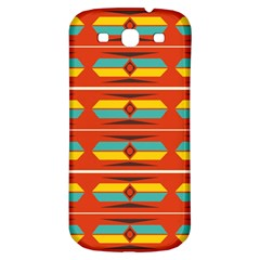 Shapes In Retro Colors Pattern                        samsung Galaxy S3 S Iii Classic Hardshell Back Case by LalyLauraFLM