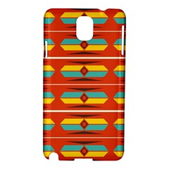 Shapes In Retro Colors Pattern                        			samsung Galaxy Note 3 N9005 Hardshell Case by LalyLauraFLM