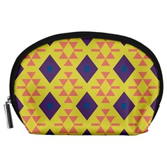 Tribal Shapes And Rhombus Pattern                        Accessory Pouch by LalyLauraFLM