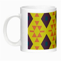 Tribal Shapes And Rhombus Pattern                        Night Luminous Mug by LalyLauraFLM