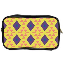Tribal Shapes And Rhombus Pattern                        			toiletries Bag (one Side) by LalyLauraFLM