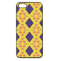 Tribal Shapes And Rhombus Pattern                        			apple Iphone 5 Seamless Case (black) by LalyLauraFLM