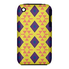 Tribal Shapes And Rhombus Pattern                        			apple Iphone 3g/3gs Hardshell Case (pc+silicone) by LalyLauraFLM