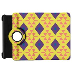 Tribal Shapes And Rhombus Pattern                        			kindle Fire Hd Flip 360 Case by LalyLauraFLM