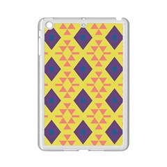 Tribal Shapes And Rhombus Pattern                        			apple Ipad Mini 2 Case (white) by LalyLauraFLM