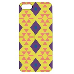 Tribal Shapes And Rhombus Pattern                        			apple Iphone 5 Hardshell Case With Stand by LalyLauraFLM
