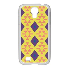 Tribal Shapes And Rhombus Pattern                        samsung Galaxy S4 I9500/ I9505 Case (white) by LalyLauraFLM