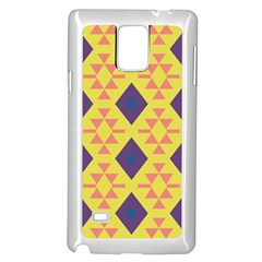 Tribal shapes and rhombus pattern                        			Samsung Galaxy Note 4 Case (White) by LalyLauraFLM