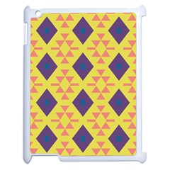 Tribal Shapes And Rhombus Pattern                        apple Ipad 2 Case (white) by LalyLauraFLM