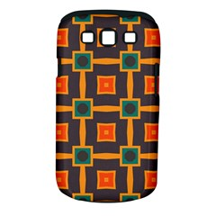 Connected Shapes In Retro Colors                         			samsung Galaxy S Iii Classic Hardshell Case (pc+silicone) by LalyLauraFLM