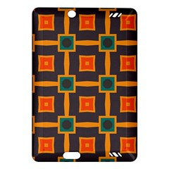 Connected Shapes In Retro Colors                         			kindle Fire Hd (2013) Hardshell Case by LalyLauraFLM