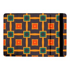 Connected Shapes In Retro Colors                         			samsung Galaxy Tab Pro 10 1  Flip Case by LalyLauraFLM