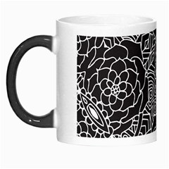 Mariager, Bold flower design, black & white Morph Mug by Zandiepants
