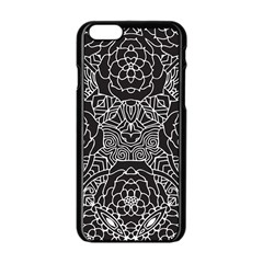 Solid Black Apple Iphone 6/6s Black Enamel Case by Zandiepants