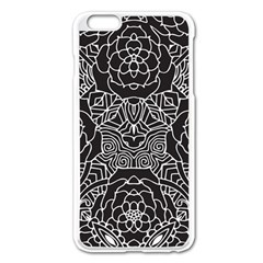 Solid Black Apple Iphone 6 Plus/6s Plus Enamel White Case by Zandiepants