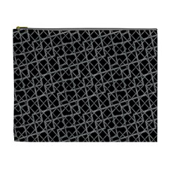 Geometric Grunge Pattern Cosmetic Bag (xl) by dflcprints