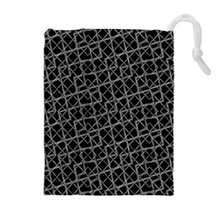 Geometric Grunge Pattern Drawstring Pouches (extra Large) by dflcprints