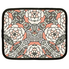 Petals In Vintage Pink, Bold Flower Design Netbook Case (large) by Zandiepants