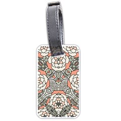 Petals In Vintage Pink, Bold Flower Design Luggage Tag (one Side) by Zandiepants