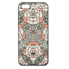 Petals In Vintage Pink, Bold Flower Design Apple Iphone 5 Seamless Case (black) by Zandiepants