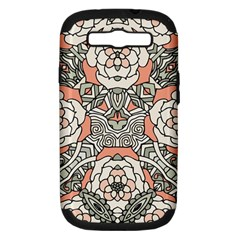 Petals In Vintage Pink, Bold Flower Design Samsung Galaxy S Iii Hardshell Case (pc+silicone) by Zandiepants
