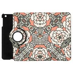 Petals In Vintage Pink, Bold Flower Design Apple Ipad Mini Flip 360 Case by Zandiepants