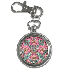 Petals, Carnival, Bold Flower Design Key Chain Watch by Zandiepants
