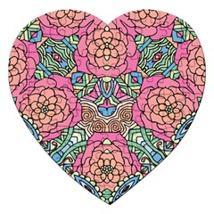 Petals, Carnival, Bold Flower Design Jigsaw Puzzle (heart) by Zandiepants