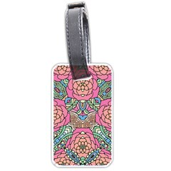 Petals, Carnival, Bold Flower Design Luggage Tag (one Side) by Zandiepants
