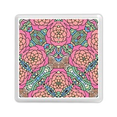 Petals, Carnival, Bold Flower Design Memory Card Reader (square) by Zandiepants